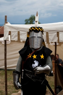 Chevalier en tenue