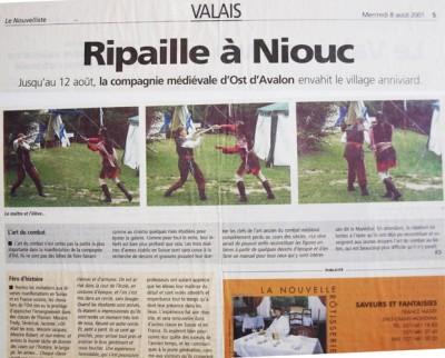 Niouc: Article du Nouvelliste