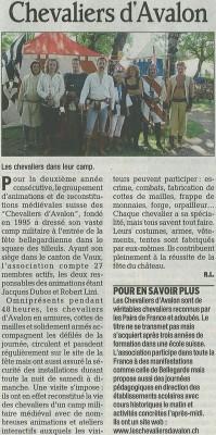 Le Dauphiné Libéré, dimanche 10 Septembre 2006