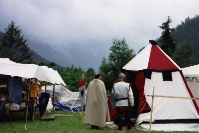 Chateau d'Oex, la tente de Catherine