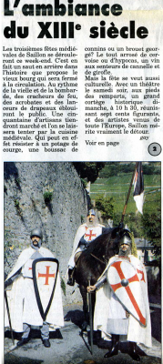 Article sur Saillon 1995