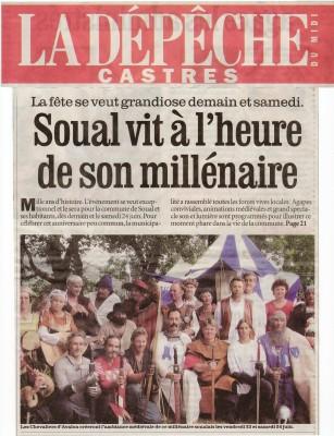 La dépêche du Midi, 22 juin 2006