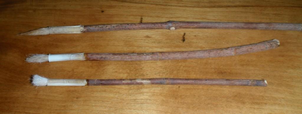 3 pinceaux en poil de cerf
