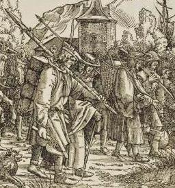 Détail d'une oeuvre de Hans Burgkmaier, début XVIème